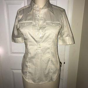 NY & Company Button Down Collar Shirt